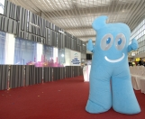 The Shanghai Expo mascot Haibao.