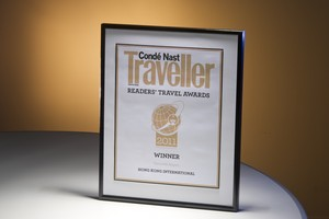 HKIA is named the world's best airport by Condé Nast Traveller after scoring top marks for its design and layout as well as shopping and duty-free facilities.
